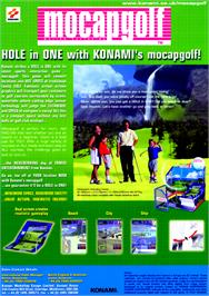 Advert for Mocap Golf on the Arcade.