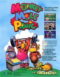 Advert for Monkey Mole Panic on the Arcade.
