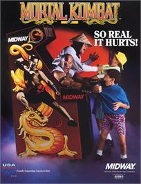 Advert for Mortal Kombat on the Arcade.