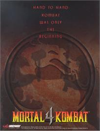 Advert for Mortal Kombat 4 on the Sony Playstation.