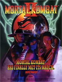 Advert for Mortal Kombat II on the Commodore Amiga.