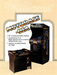Advert for MotoRace USA on the Arcade.