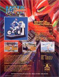 Advert for Moto Frenzy on the Arcade.