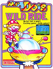 Advert for Mr. Do's Wild Ride on the Arcade.