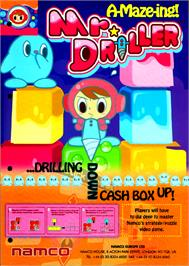 Advert for Mr. Driller on the Arcade.