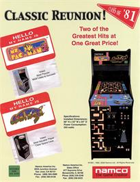 Advert for Ms. Pac-Man/Galaga - 20th Anniversary Class of 1981 Reunion on the Arcade.