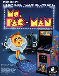 Advert for Ms. Pac-Man on the Arcade.