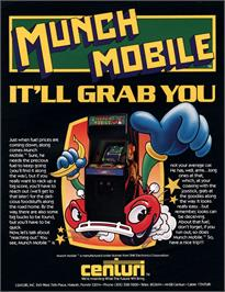 Advert for Munch Mobile on the Arcade.