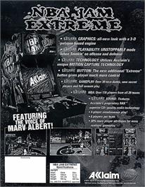 Advert for NBA Jam Extreme on the Sony Playstation.