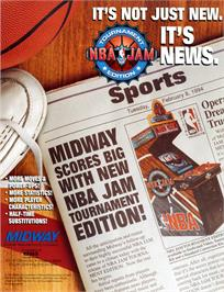 Advert for NBA Jam TE on the Arcade.