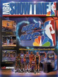 Advert for NBA Showtime: NBA on NBC on the Sony Playstation.