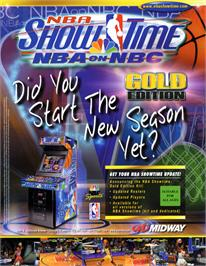 Advert for NBA Showtime / NFL Blitz 2000 on the Arcade.