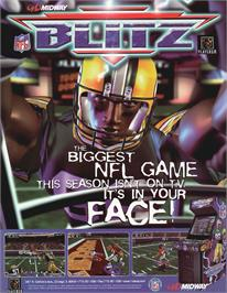 Advert for NFL Blitz on the Arcade.