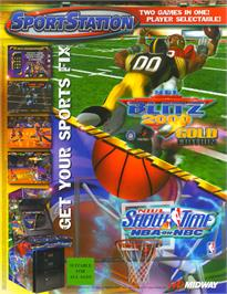 Advert for NFL Blitz 2000 Gold Edition on the Arcade.