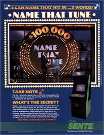 Advert for Name That Tune on the Arcade.