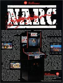 Advert for Narc on the Arcade.