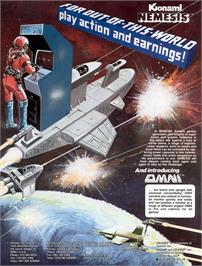 Advert for Nemesis on the Arcade.