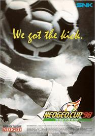 Advert for Neo-Geo Cup '98 - The Road to the Victory on the Arcade.