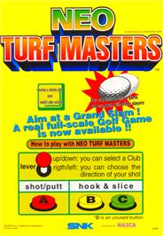 Advert for Neo Turf Masters / Big Tournament Golf on the Arcade.