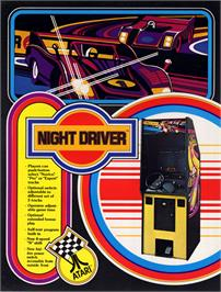 Advert for Night Driver on the Commodore 64.