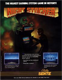 Advert for Night Stocker on the Arcade.