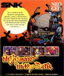 Advert for Nightmare in the Dark on the SNK Neo-Geo MVS.