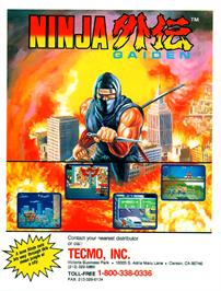Advert for Ninja Gaiden on the Sega Master System.