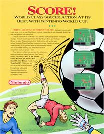 Advert for Nintendo World Cup on the NEC TurboGrafx-16.