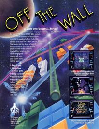 Advert for Off the Wall on the Arcade.
