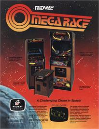 Advert for Omega Race on the Atari 2600.