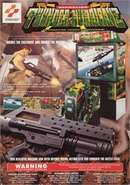 Advert for Operation Thunder Hurricane on the Arcade.
