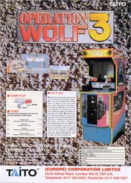 Advert for Operation Wolf 3 on the Arcade.