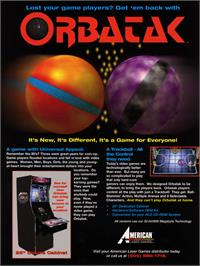 Advert for Orbatak on the Arcade.