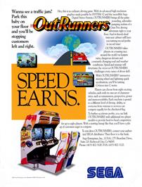 Advert for OutRunners on the Sega Genesis.