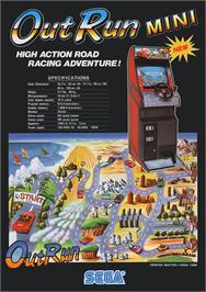 Advert for Out Run on the Sega Master System.