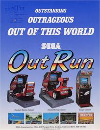 Advert for Out Run on the Arcade.
