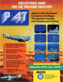 Advert for P-47 - The Phantom Fighter on the Arcade.