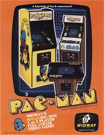 Advert for Pac-Man on the Arcade.