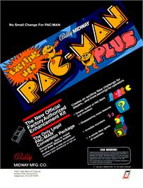 Advert for Pac-Man Plus on the Arcade.