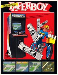 Advert for Paperboy on the Atari Lynx.