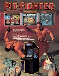 Advert for Pit Fighter on the Atari 7800.