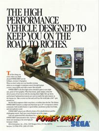 Advert for Power Drift on the Arcade.