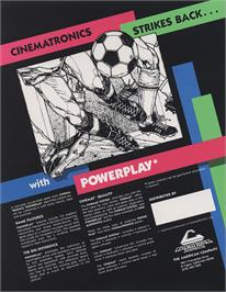 Advert for Power Play on the Arcade.