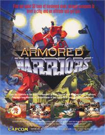Advert for Powered Gear: Strategic Variant Armor Equipment on the Arcade.