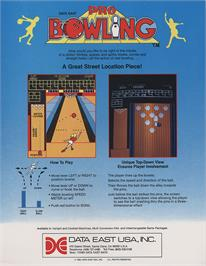 Advert for Pro Bowling on the Arcade.