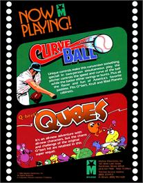 Advert for Q*bert's Qubes on the Arcade.
