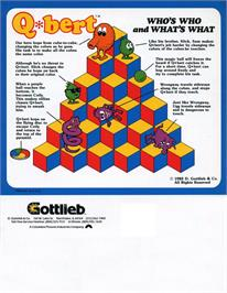 Advert for Q*bert on the Atari 8-bit.