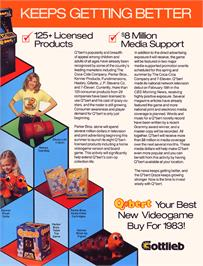 Advert for Q*bert Board Input Test Rom on the Arcade.