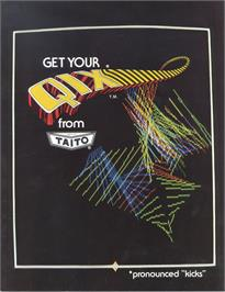 Advert for QIX on the Atari Lynx.