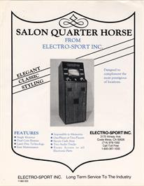 Advert for Quarter Horse on the Arcade.